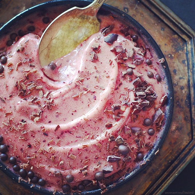 dairy-free plum ice cream