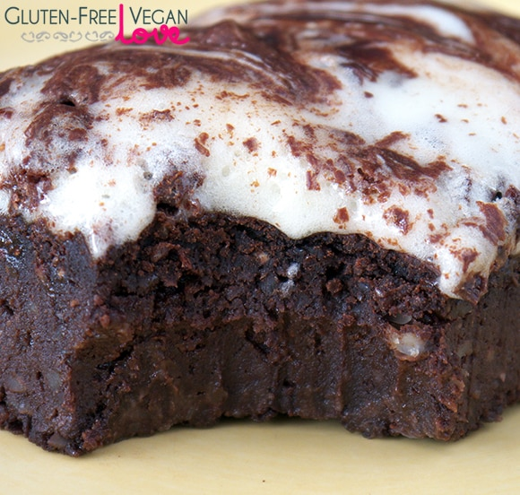 Vegan Gluten-Free Brownies with Marshmallow Fluff