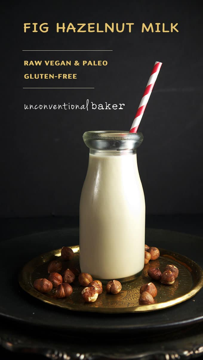 DIY Fig Hazelnut Milk {Raw, Vegan, Paleo, Gluten-Free, Refined Sugar-Free, Fruit Sweetened}