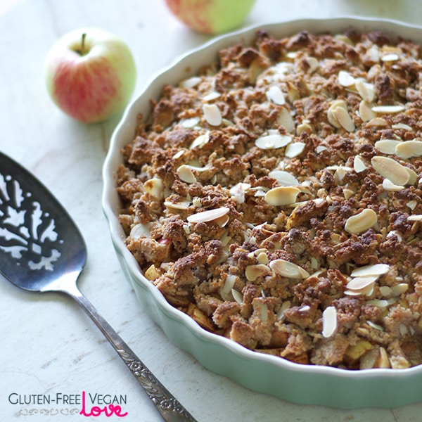 simple paleo gluten free and vegan apple crumble. Black Bedroom Furniture Sets. Home Design Ideas
