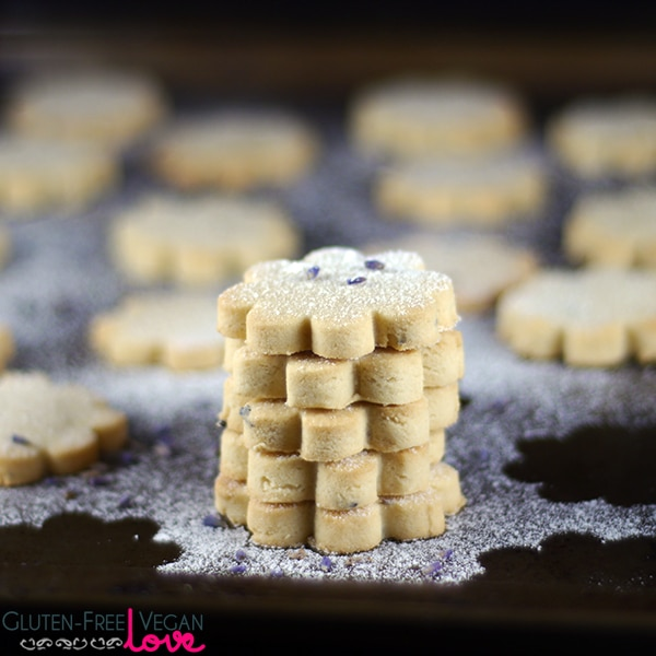 Gluten-Free Vegan Lemon Lavender Shortbread Cookies Recipe {Refined Sugar-Free}