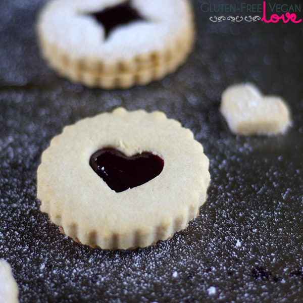Vegan and Gluten-Free Linzer Cookies {Refined Sugar-Free}