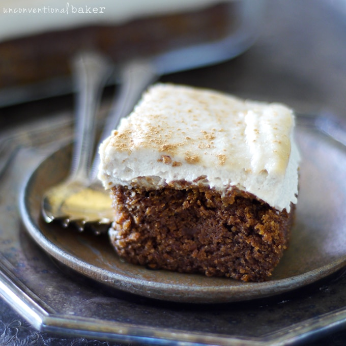 "Nutty Pumpkin Cake with a ""Cream Cheese"" Topping {Free from gluten, dairy, eggs, and refined sugars}"