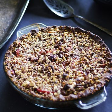 Rustic Almond Peach Pie {Free from: gluten & grains, dairy, eggs, and refined sugars!}
