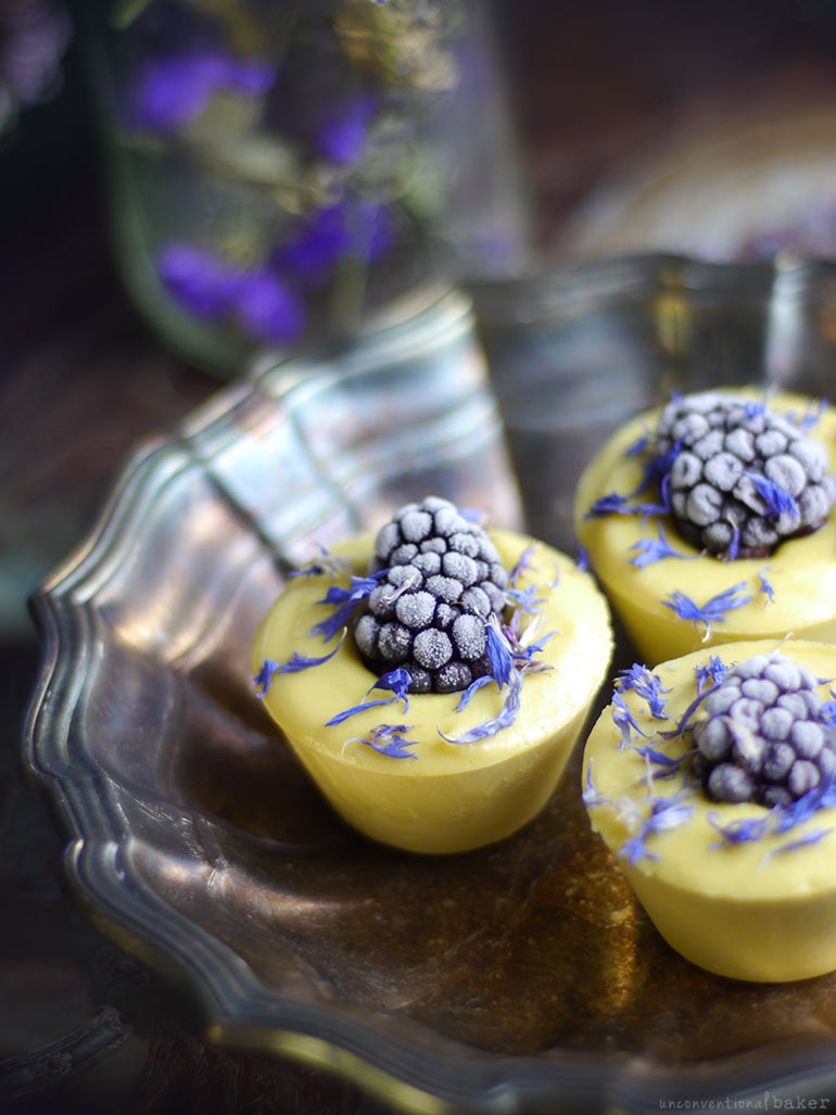 Blackberry Lemon Raw Cheesecake Bites (Free From: dairy, gluten & grains, and refined sugar)