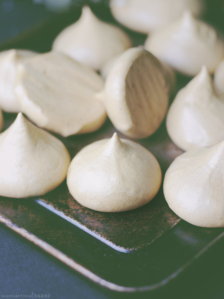 Aquafaba Meringue Cookies with Coconut Sugar (eggless & refined sugar-free)