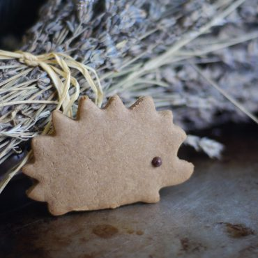 Carob Hedgehog Cutout Cookies (Free From: gluten, dairy, eggs, added oils, gums, and refined sugar)
