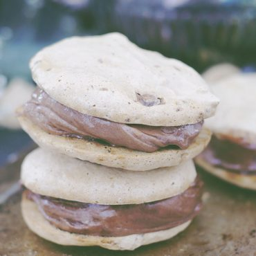 Eggless Meringue Nice Cream Sandwich Cookies (Free From: Gluten & Grains, Dairy, Eggs, Oils, Refined Sugar, + Nut-Free Option)